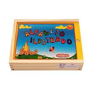 Alfabeto Ilustrado-Brinquedo Educativo-Pedagógico-Carimbrás