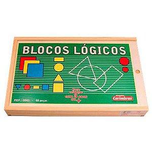 Blocos Lógicos-Brinquedo Pedagógico - 48 Peças-Carimbrás