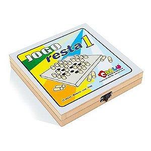 Jogo Resta 1 Em MDF Com 32 Peças- Carlu