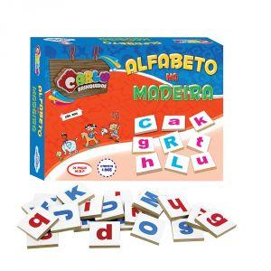 Alfabeto Na Madeira Em Mdf 26 Pçs - Carlu