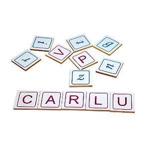 Alfabeto Vamos Formar Palavras Em MDF-60 Peças - Carlu