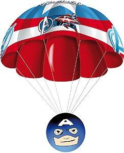 Parachuters 3d Marvel - Capitão América - Candide