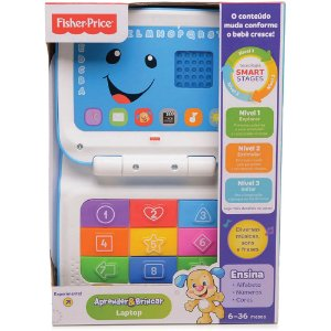 Novo Laptop Aprender E Brincar Fisher Price