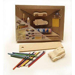 Tunados Jeep - Brinquedo Educativo - Construir E Pintar - Mitra