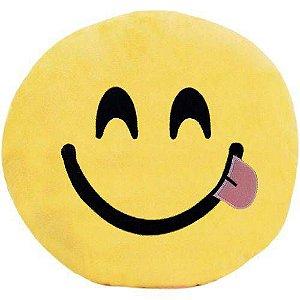 Almofada Pelúcia Emoticon Linguinha 30cm. Soft Toys