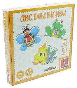 Quebra-Cabeça de Alfabetização ABC dos Bichos em Madeira