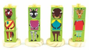Coleção Cubos Animais Verde - NewArt Toys