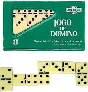 JOGO DE DOMINO 7MM 28 PEÇAS ART BRINK