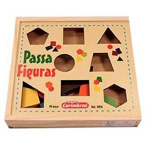Passa Formas Geométricas Carimbras Brinquedo Educativo
