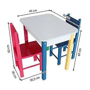 Mesa Infantil Com 2 Cadeiras - Carlu