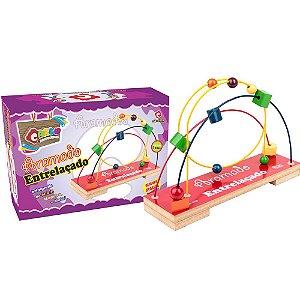 Brinquedo Educativo Aramado Entrelaçado Colorido