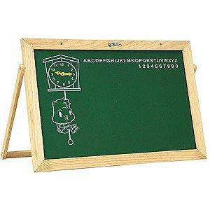Lousa Infantil Quadro C/Alfabeto - Relógio 60 X 40 Cm Souza