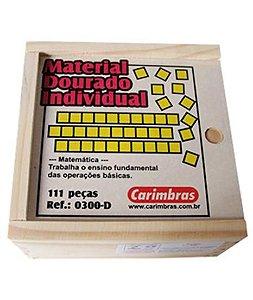 Material Dourado em Madeira Individual 111 Peças - Carimbras