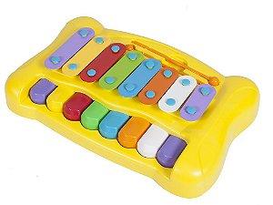 BRINQUEDO PARA BEBE PIANO XILOFONE DO RE MI XPLAST Idade 2 +