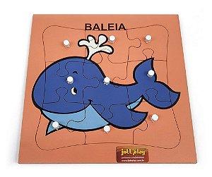 Quebra-Cabeça c/ Pinos - Baleia com 9 pçs