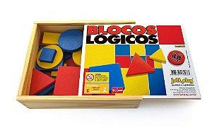 Blocos Lógicos - 48 peças em madeira