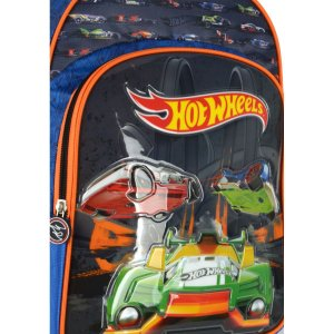 Mochila Escolar HOT WHEELS GD 3Bolsos Azul ESC