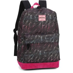 Mochila Escolar UP4YOU GD 1Bolso PT/Rosa