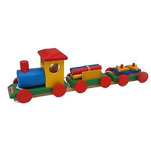 Trem Pedagógico em madeira