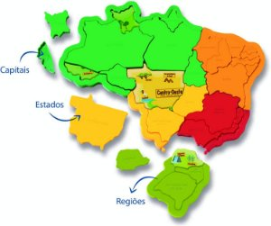 Brinquedo para montar Mapa do Brasil -1109 - ELKA