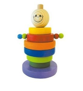 Brinquedo Pedagógico Boneco Gutinho Colorido de madeira