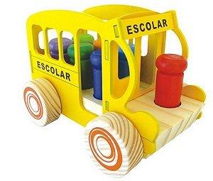Onibus Escolar - Bondinho - Brinquedo de Encaixe  - RR003002