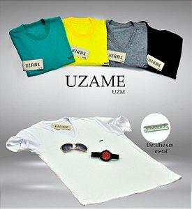 Camisetas masculina placa em metal e gola V  diversas cores. Obs: Para pedir cores específicas chamar no whats :(44)999772361