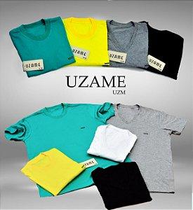 Camiseta masculina placa em metal e gola careca diversas cores. Obs: Para pedir cores específicas chamar no whats :(44)999772361