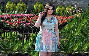 """Vestido boneca com recorte bordado decote .Coleção primavera verão 2017/18 """"Euforia"""""""