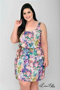 """Vestido floral com alça.Coleção """"LUST"""" Primavera verão 2018."""