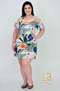 Vestido floral ciganinha.