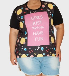 Camiseta Plus Size Fun