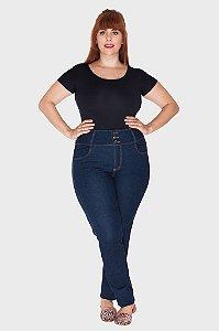 Calça Jeans Stone Plus Size com Elástico