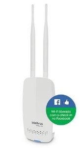 Roteador Wireless N 300Mbps Intelbras HotSpot 300 - 2 antenas - WiFi liberado por check-in no Facebook