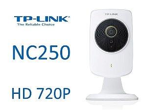Camera de monitoramento de vídeo TP-Link NC250 HD 720P Cloud Visão Noturna WiFi Repetidor 300Mbps