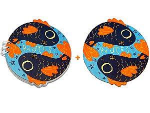 BLOCO + PORTA-COPO - Peixes