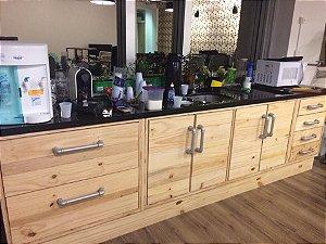 Balcão gabinete cozinha de paletes com canos de ferro