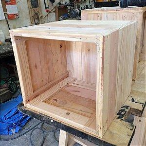 Caixote /cubo  de madeira pallet 40x40 cm