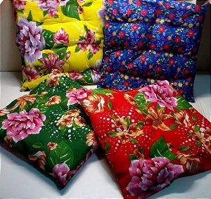 Almofadas chita xita pic nic / assento / puff 40x40 cm