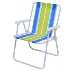cadeira de praia / evento ao ar livre / pic nic (cores sortidas) - Locação mínima 10 unidades