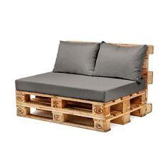 Sofá de pallets com almofadas soltas