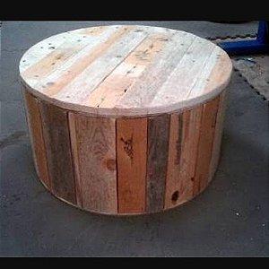 Mesa de centro redonda de pallet 80 cm