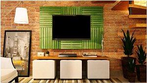 Painel de pallet para tv ripas color