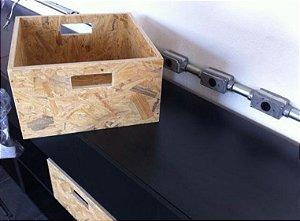 caixote de madeira osb 50x30x20 cm