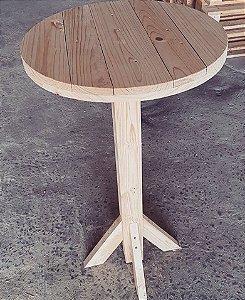 Mesa bistrô carretel com pés