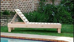 Chaise Espreguiçadeira de pallet para área externa 190x60