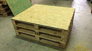 Mesa de centro OSB/Pallet para eventos 100x100 cm