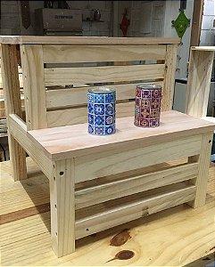 Mini expositor de pinus para mesa - venda e locação