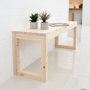 Mesa de pinus estruturada 140x60