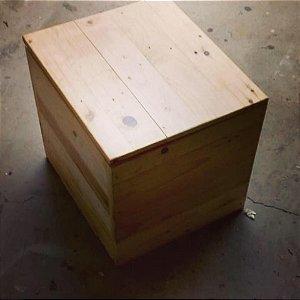 Baú banco de pallet 40x40x45 cm
